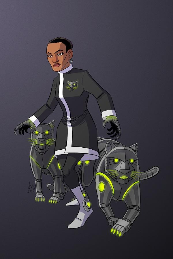 Robo-Panther Villainess by David Bednarski - 300 dpi